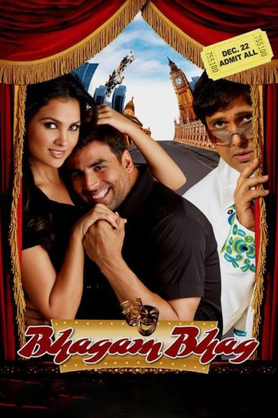 "Poster for the movie ""Bhagam Bhag"""