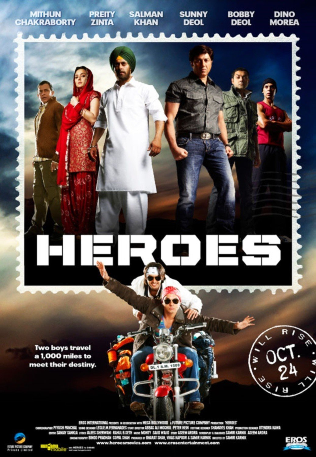 "Poster for the movie ""Heroes"""