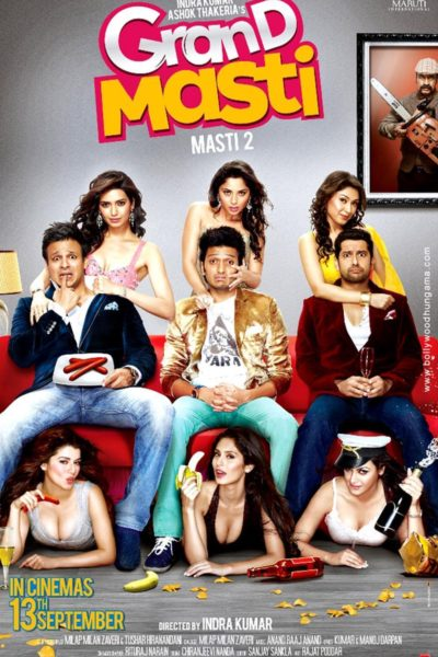 "Poster for the movie ""Grand Masti"""