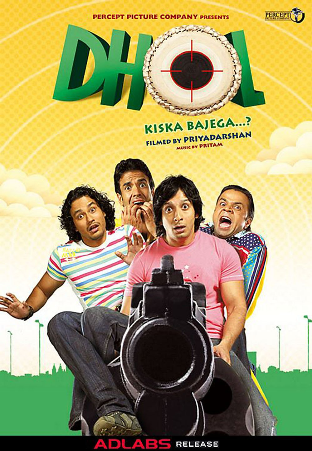 """Poster for the movie """"Dhol"""""""