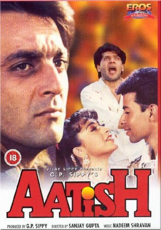 """Poster for the movie """"Aatish"""""""