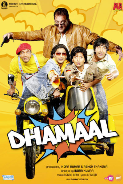 "Poster for the movie ""Dhamaal"""