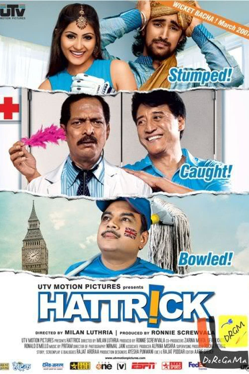 "Poster for the movie ""Hattrick"""