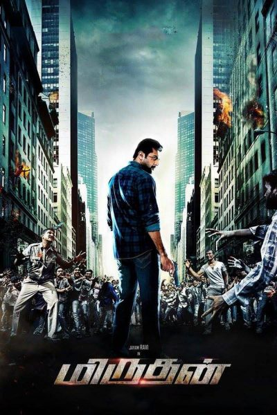 "Poster for the movie ""Miruthan"""